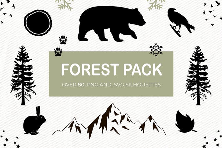 Forest Rustic Silhouettes