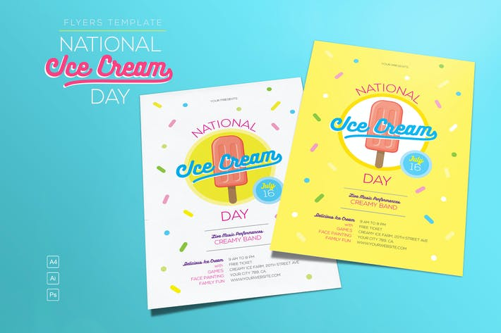 Cover Image For National Ice Cream Day Flyer