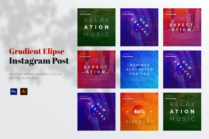 Thumbnail for Gradient Elipse Social Media Post