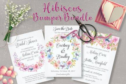 Hibiscus Bundle: Pastel Handpainted Watercolors
