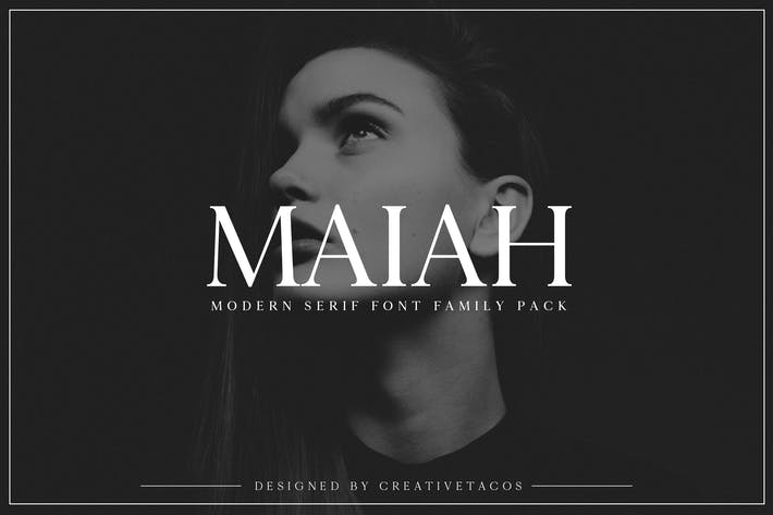 Thumbnail for Maiah Con serifa Font Family Pack