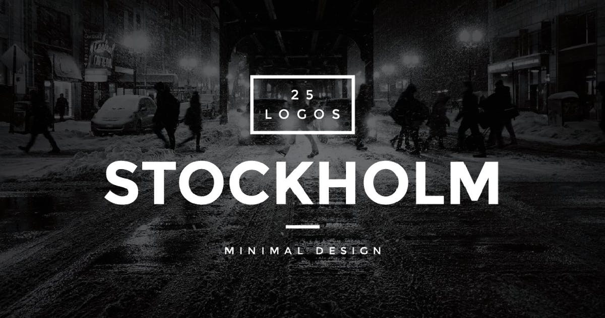 Download Stockholm - 25 Modern Vintage Logos by MPFphotography
