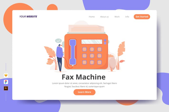 Thumbnail for Fax Machine - Landing Page