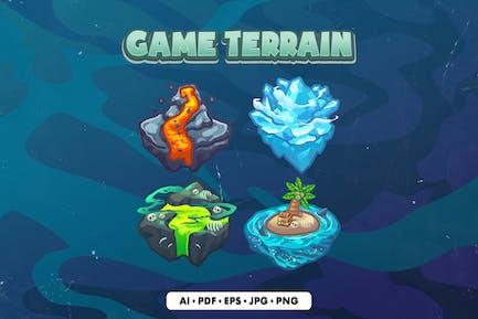 Icono del terreno del juego de la isla