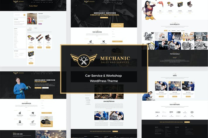 Thumbnail for Mechanic - Car Service & Repair WordPress Theme