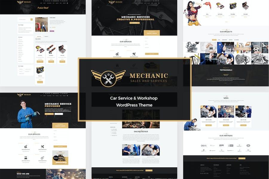 Mechanic - Car Service & Repair WordPress Theme