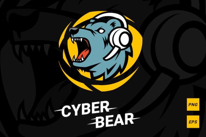 Cyber bear logotype