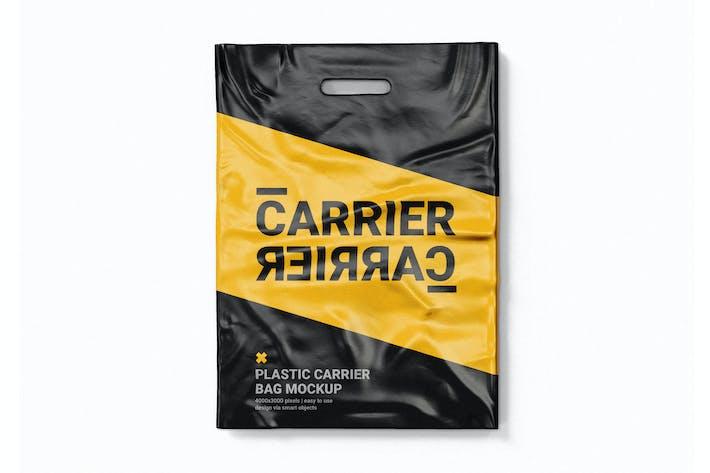 Plastic Carrier Bag Mock-Up Template