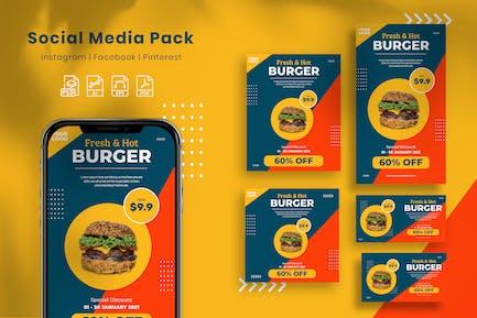 Burger - Social Media Pack