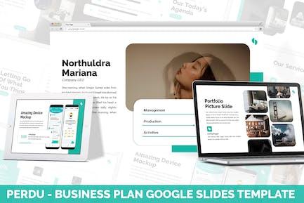 Perdu - Business Plan Google Slides Template
