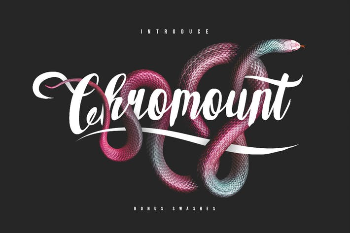 Thumbnail for Chromount Typeface