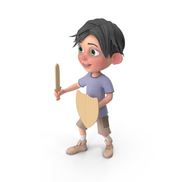 Thumbnail for Cartoon Boy Jack Holding Sword And Shield