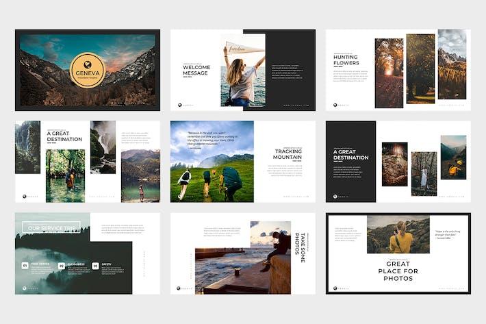 Thumbnail for Geneva : Adventure Lookbook Google Slides