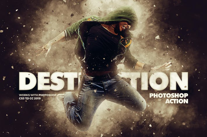 Thumbnail for Destruction Photoshop Action - Explosion Effect