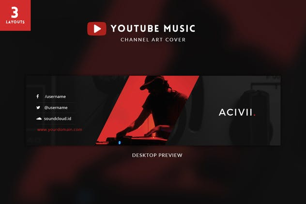 Youtube Music Channel Art - product preview 0