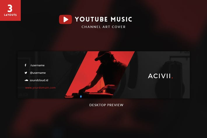 Thumbnail for Youtube Music Channel Art