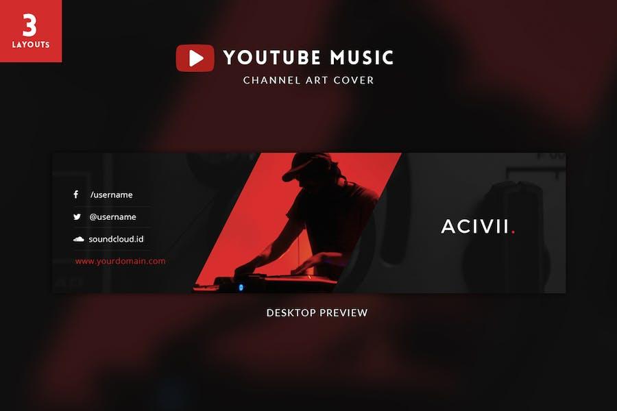 Youtube Music Channel Art