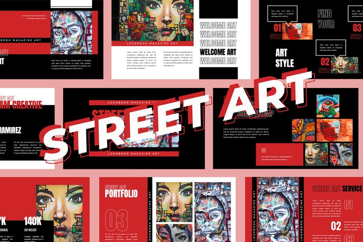 Thumbnail for Street Art - Google Slides Präsentation