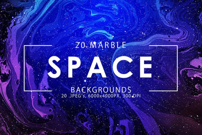Thumbnail for Space Marble Backgrounds