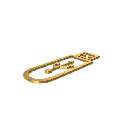 Gold Symbol USB Flash