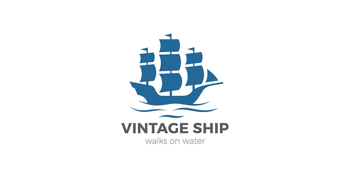 Download Vintage Ship Sailing Boat Logo design by Sentavio