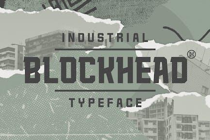 Blockhead Typeface|Bold Geometric Font