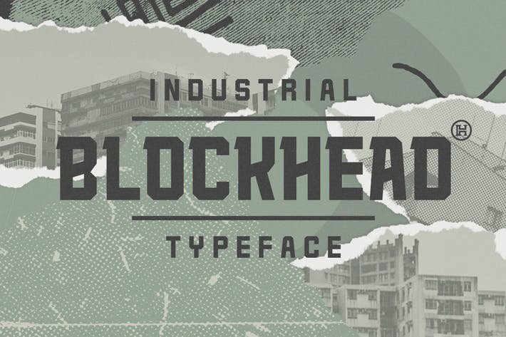 Thumbnail for Blockhead Typeface