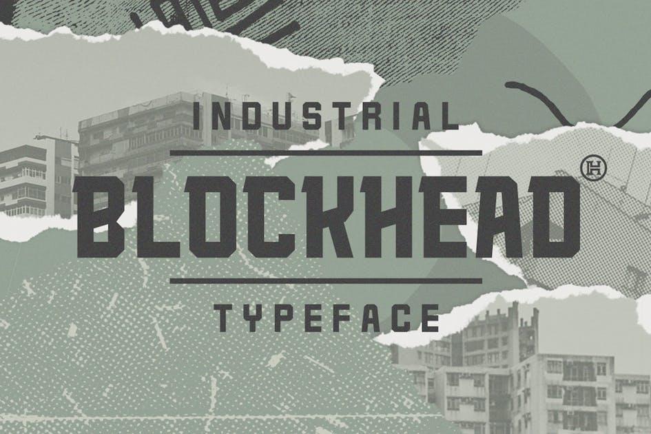 Download Blockhead Typeface by Mihis_Design
