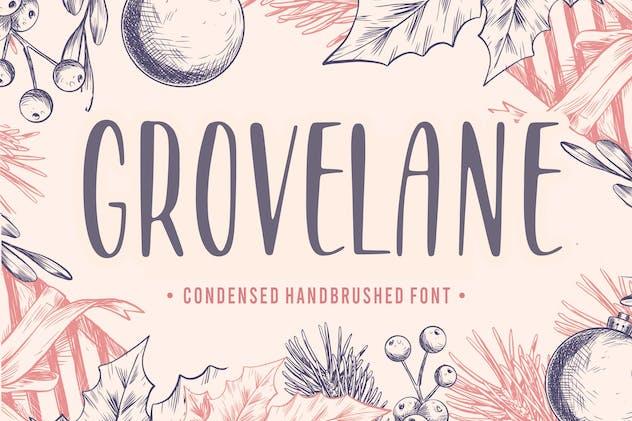 Grovelane Brush Font YH - product preview 6