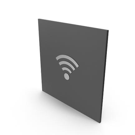 Знак из нержавеющей стали WiFi