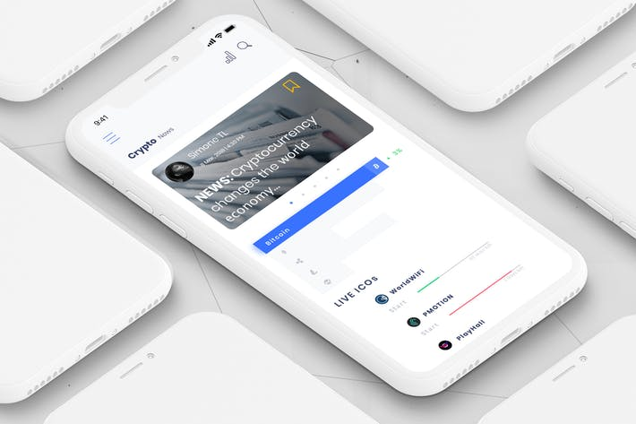 Thumbnail for Coin News Mobile Ui - B
