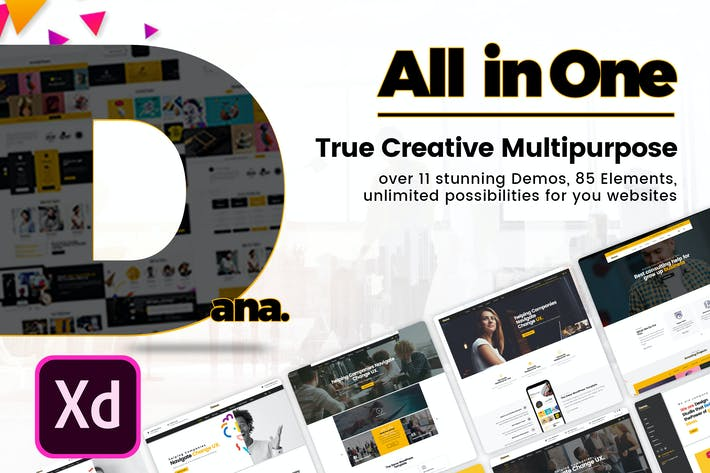 Thumbnail for Dana - Ultimate Multi-Purpose Business XD Template