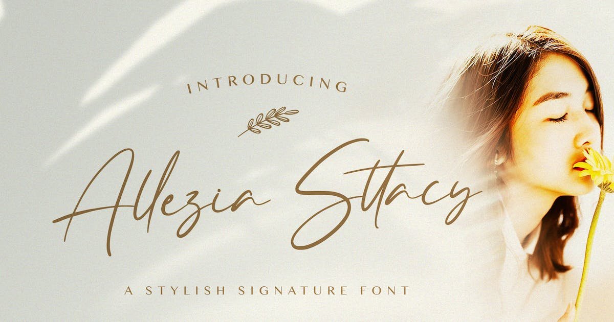 Download Allezia Sttacy - Handwritten Font by StringLabs