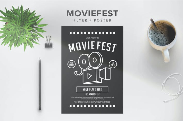 Thumbnail for Moviefest Flyer