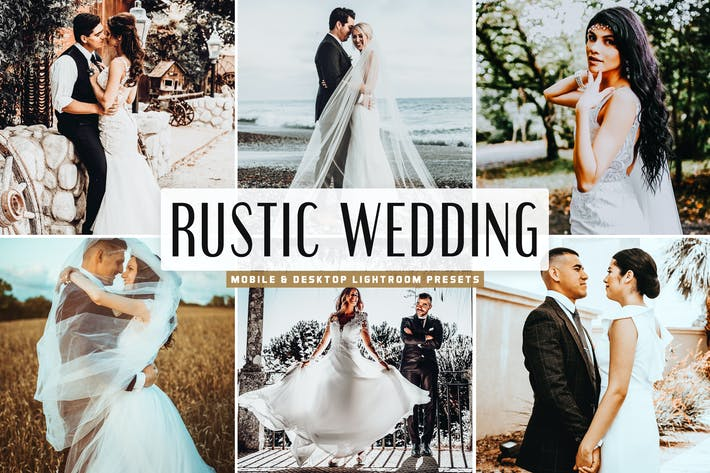 Thumbnail for Rustic Wedding Mobile & Desktop Lightroom Presets