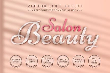 Beauty salon - editable text effect, font style