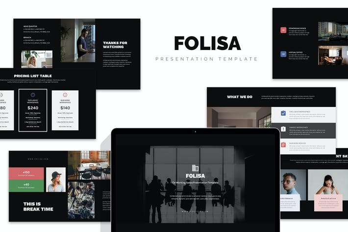 Thumbnail for Folisa : Coworking Workspace Business Keynote