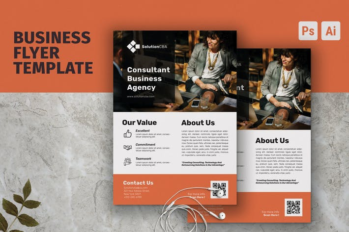 Thumbnail for Multipurpose Business Consultant Flyer Template