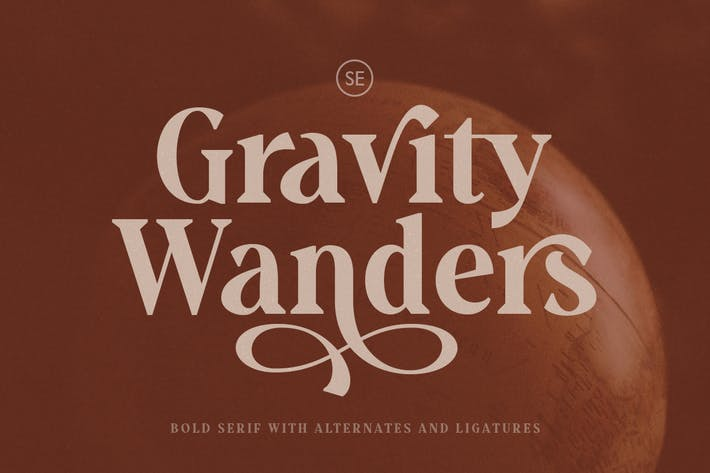 Thumbnail for Gravity Wanders - Stylish Bold Serif