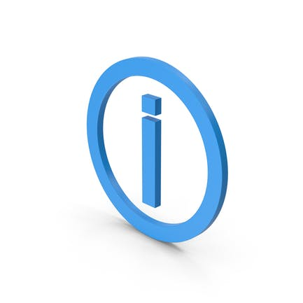 Symbol Inverted Exclamation Mark Blue
