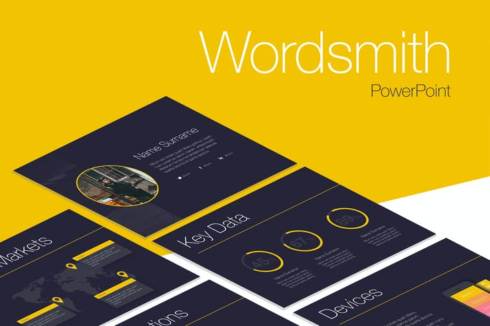 Thumbnail for Wordsmith PowerPoint Template