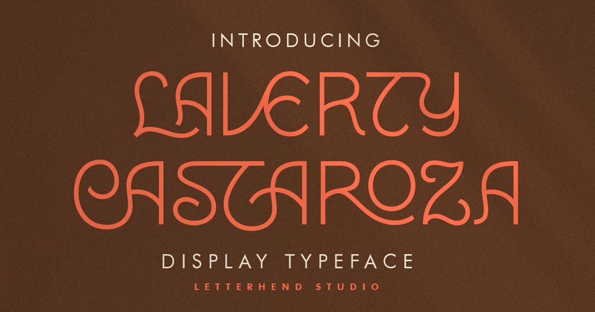 Download Laverty Castaroza - Display Typeface by letterhend