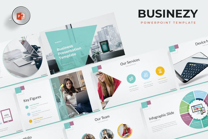 Cover Image For Businezy - Powerpoint Template