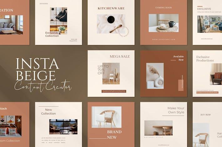 Thumbnail for Beige Insta Creator