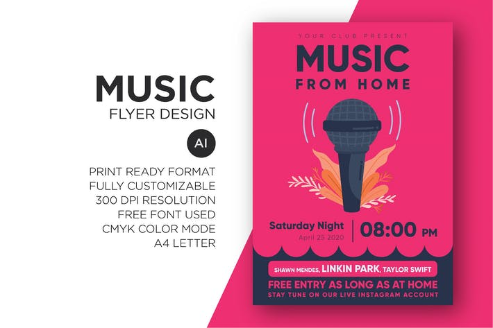 Thumbnail for Music - Flyer Design Template