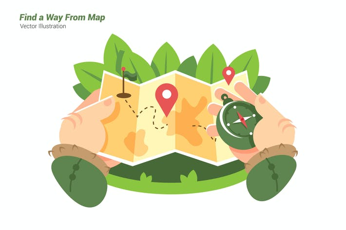 Thumbnail for Find From Map - Vector Illustration
