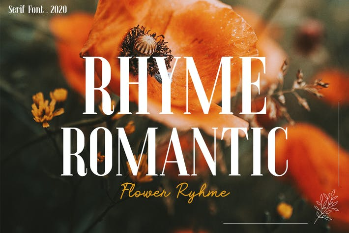 Rima Flor - Con serifa romántico