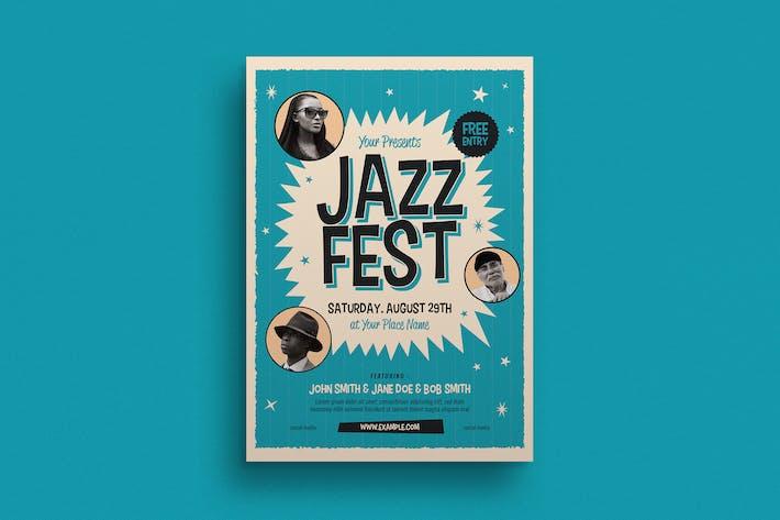 Thumbnail for dépliant d'événements du festival de jazz du Vieux Jazz
