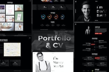 Lebenslauf-Portfolio - Portfolio HTML-Vorlage