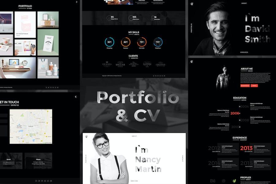 CV Portfolio - Portfolio HTML Template